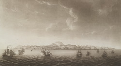 A General View of St. Lucia distant about two Leagues Middle of the Island bearing South by East